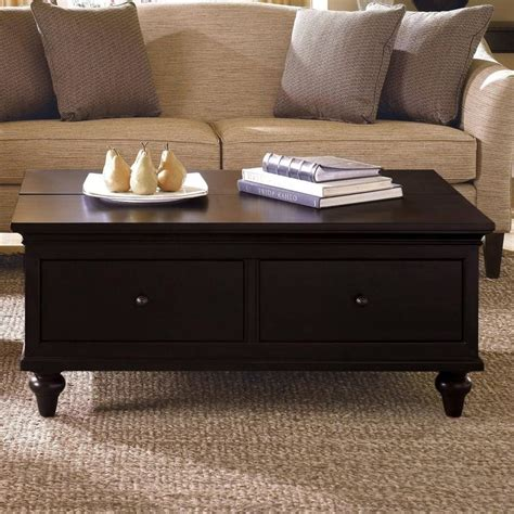 Tabletop features stylized, raised edge detail. light wood coffee table with drawers Collection-Home Reclaimedod Coffee Table With Drawers Gl ...