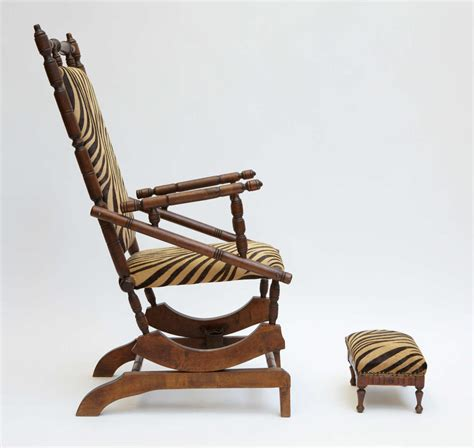 napoleon iii rocking chair with footstool for sale