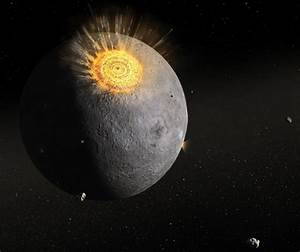 Asteroid Hitting The Moon - Pics about space