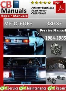 best car repair manuals 1984 mercedes benz e class on board diagnostic system mercedes 380se 1984 1985 service repair manual ebooks automotive