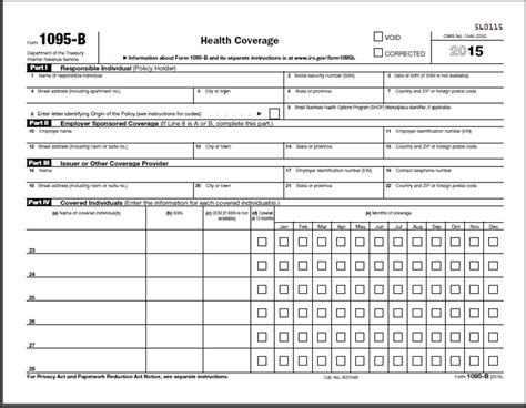 health insurance form 1095 b aca tax forms affordable care act reporting forms