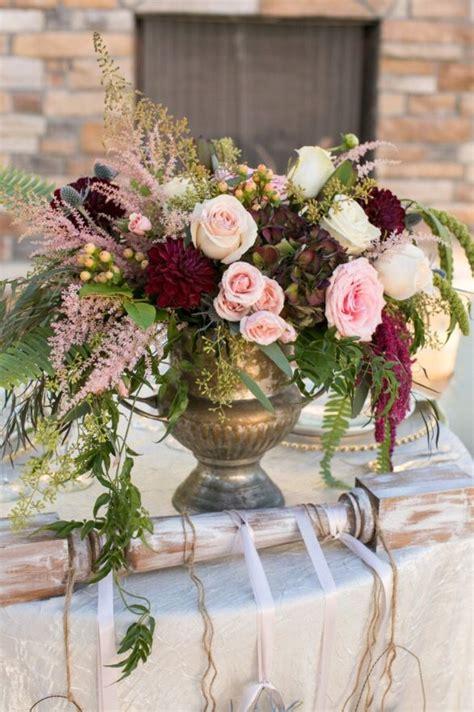 romantic wedding style blush pinks ivory burgundy wine