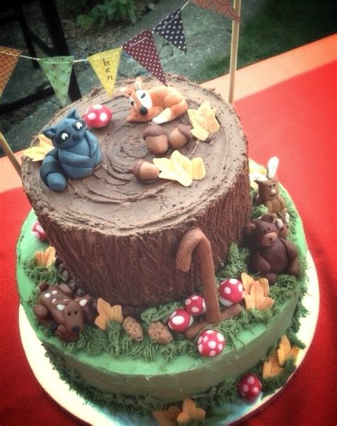 Woodland Creatures Cake Cake Creativity Pinterest