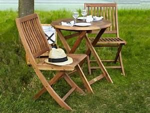 Petite Table Ronde De Jardin : table de jardin en bois quel salon de jardin choisir ~ Dailycaller-alerts.com Idées de Décoration