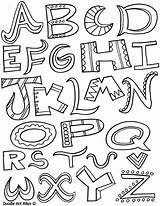 Alphabet Coloring Letters Lettering Creative Script Calligraphy Printable sketch template
