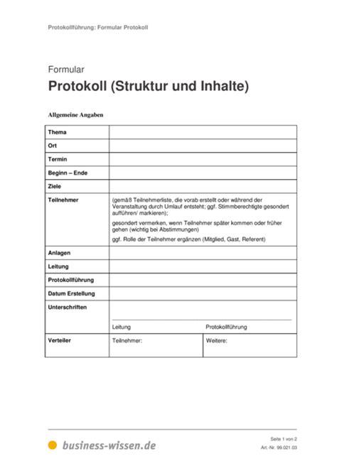 protokoll simultan schreiben formular und vorlage