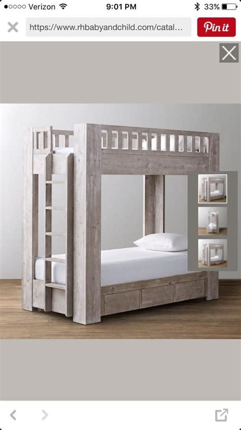 ana white build  rustic modern bunk bed   easy