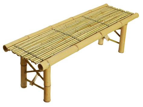 Bamboo Bench Folding Tropical Coffee Table Seat Home Room