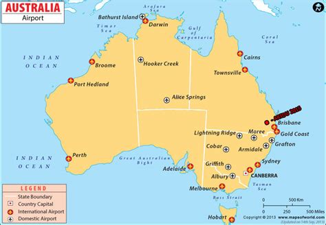 Where to fly into Australia