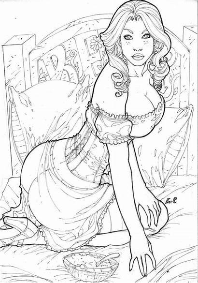 Deviantart Goldilocks Lcfreitas Coloring Fairy Grimm Tales