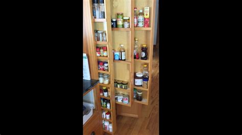 hidden pull  spice racks custom vertical drawers