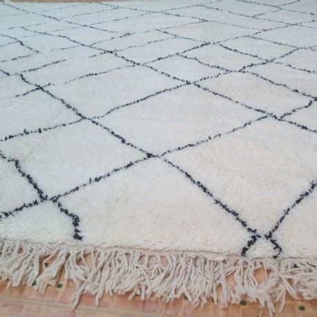 grand tapis marocain beni ouarain  la decoration design