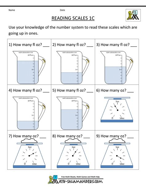 grade measurement worksheets