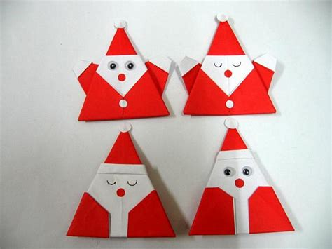 origami santa claus for christmas colourfulorigami