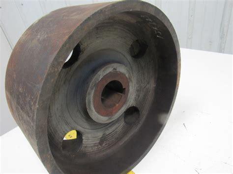 vintage  od   wide flat belt drive pulley