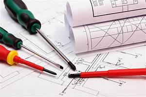 Rolls Of Diagrams And Work Tools On Electrical