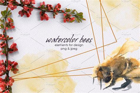 Watercolor bee in 2020   Watercolor illustration ...