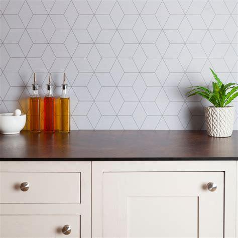 geometric tile splashback   mm  mm worktop express