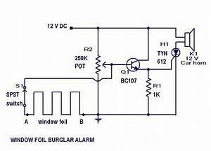 Burglar  Alarmcircuit Diagram  Eee  Ece