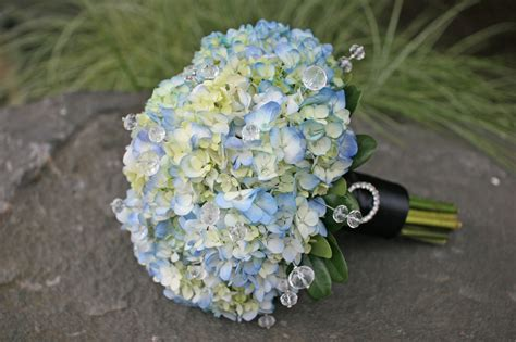 hydrangea bouquets blue and white wedding bouquets bb0626 blue hydrangea bridal bouquet with crystals