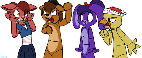 Fnaf Characters As Opposite Genders By Mittz-the-trash