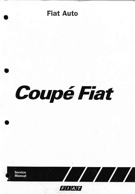 Fiat Coupe 20v Wiring Diagram by Fiat Coupe 1995 Workshop Manual Pdf