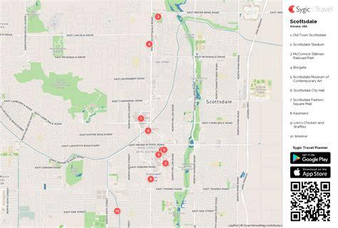 scottsdale printable tourist map sygic travel