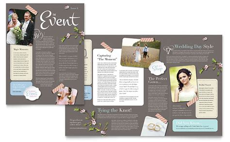bridesmaid newsletter template wedding planner newsletter template design