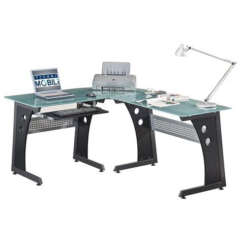 l shaped gaming desk home office desks glass panel steel frame l shaped