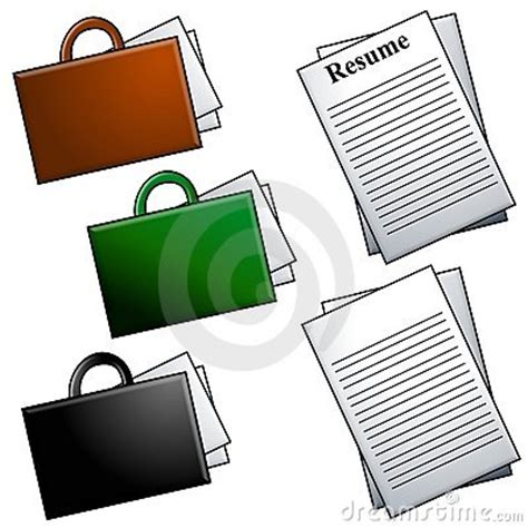 Adding Clipart To Resume by Briefcases And Resume Clip Royalty Free Stock Photography Image 4122817