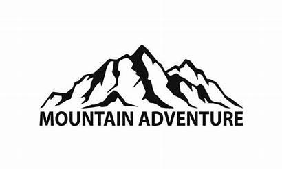 Mountain Silhouette Range Vector Symbol Mountains Adventure