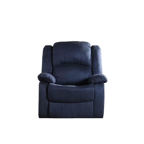 Microfiber Recliner by Blue Microfiber Recliner 73012 91bl The Home Depot