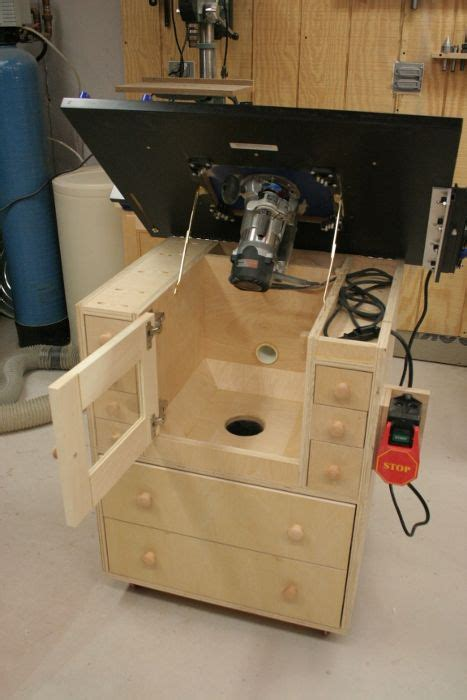 flip open top great idea   dust collection router