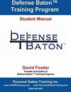 Personal Safety Training Inc   U2013 Defense Baton U2122 Student Manual