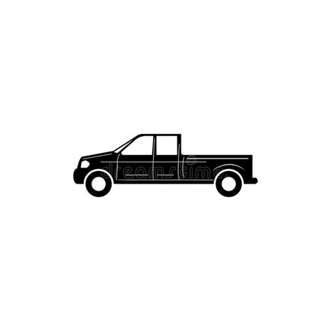 Pick-up Truck Car Icon. Car Type Simple Icon. Transport