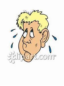 Cartoon of a Nervous Man - Royalty Free Clipart Picture