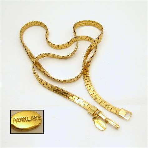park lane vintage necklace mid century interlocking chain