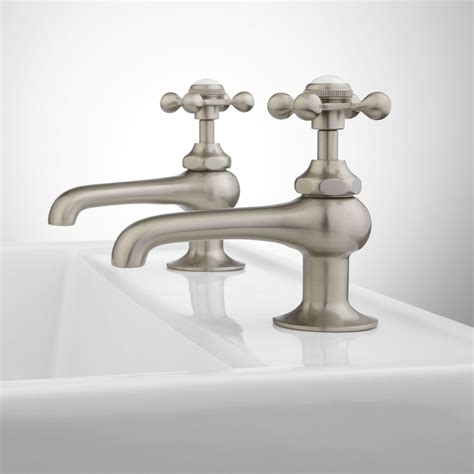 Reproduction Bathroom Fixtures by Signature Hardware Reproduction Cross Handle Sink Faucets