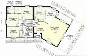 exceptionnel plan maison 110m2 etage 6 plan de maison With ordinary plan maison etage 100m2 7 plan de maison 100m2 avec sous sol