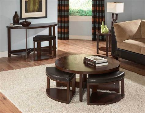 coffee table with pull out seats round coffee table with seats underneath
