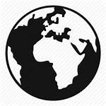 Globe Earth Vector Icon Simple Silhouette Planet