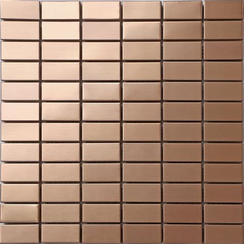 stainless mosaic 1 sq m copper effect mosaic wall tiles stainless steel brushed 0105 7081439796309 ebay