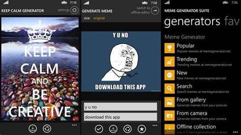 Meme Suite - apps para windows phone ringo meme generator e outros tops da semana listas techtudo