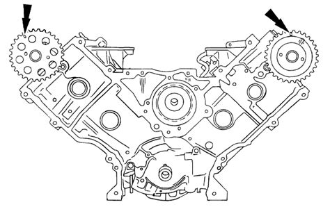 can you tell show me the timing chain alignment marks for a 5 4l ford motor it is in a ford
