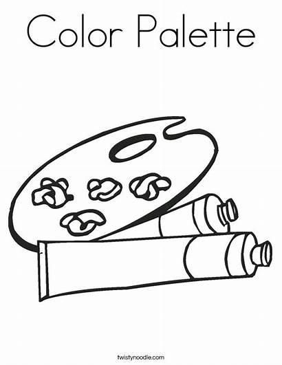 Coloring Palette Paint Built California Usa