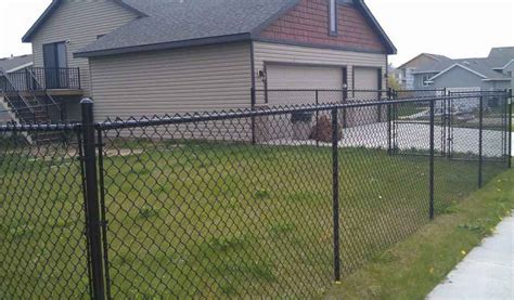fence height standard chain link fence height