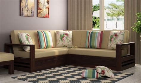 buy winster  shaped wooden sofa  storage