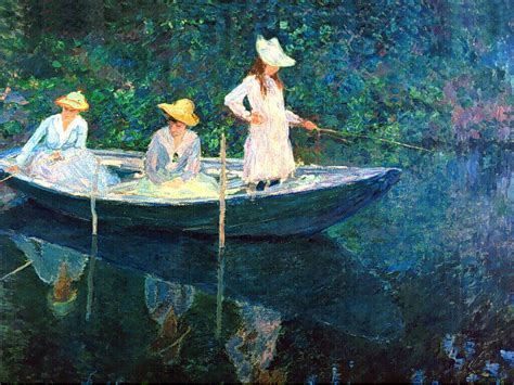 sell paintings on a boat painting by claude monet