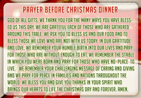 christmas dinner prayers