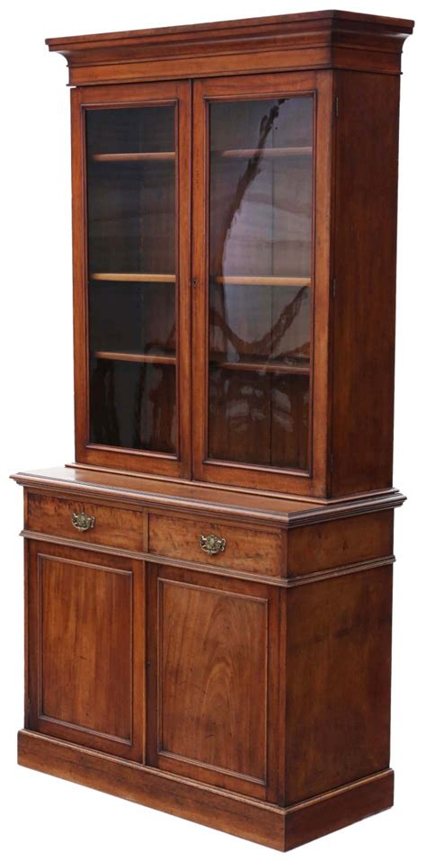 mahogany display cabinet mahogany glazed bookcase cupboard display 3954